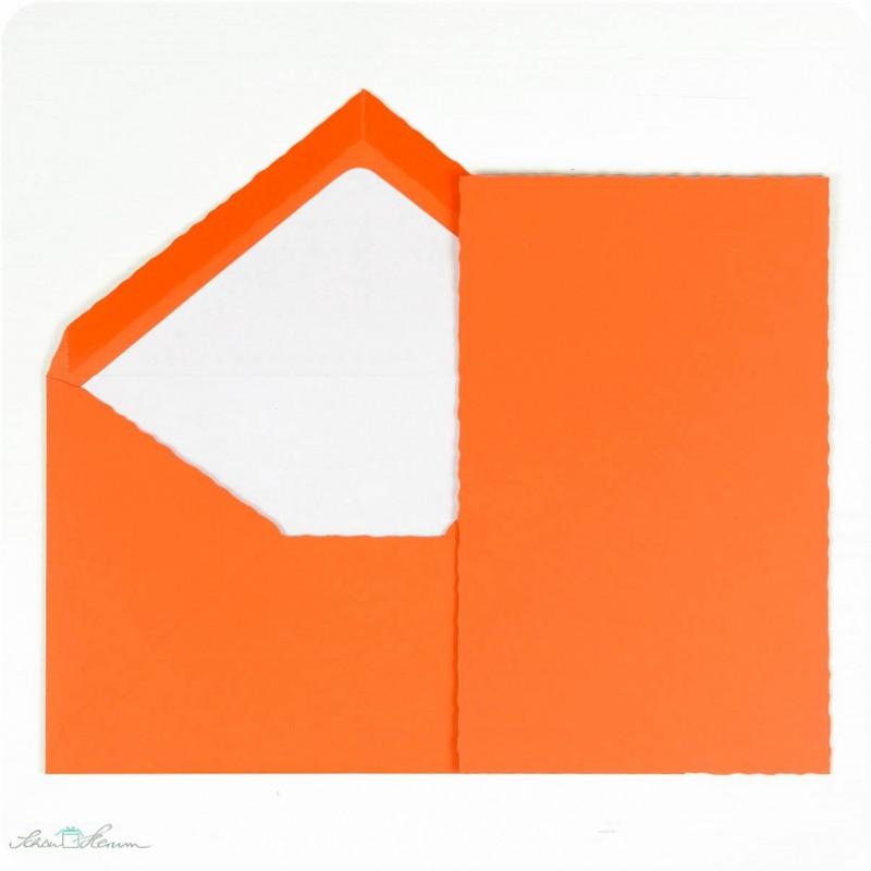 Karte & Umschlag / orange