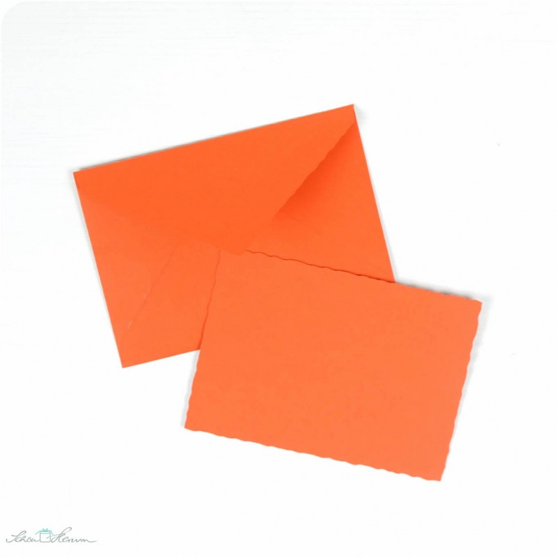 Karte & Umschlag / klein / orange