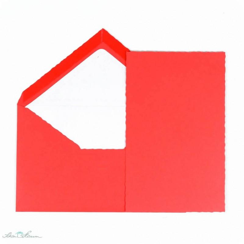 Karte & Umschlag / feuerrot