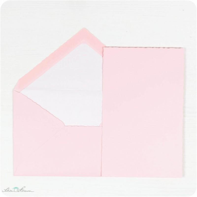 Karte & Umschlag / rosa
