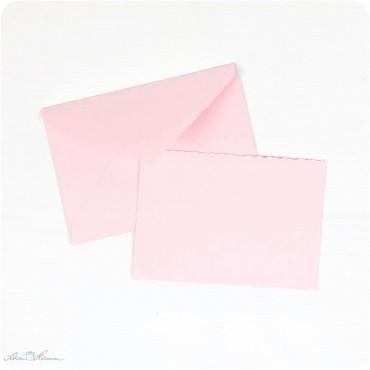 Karte & Umschlag / klein / rosa