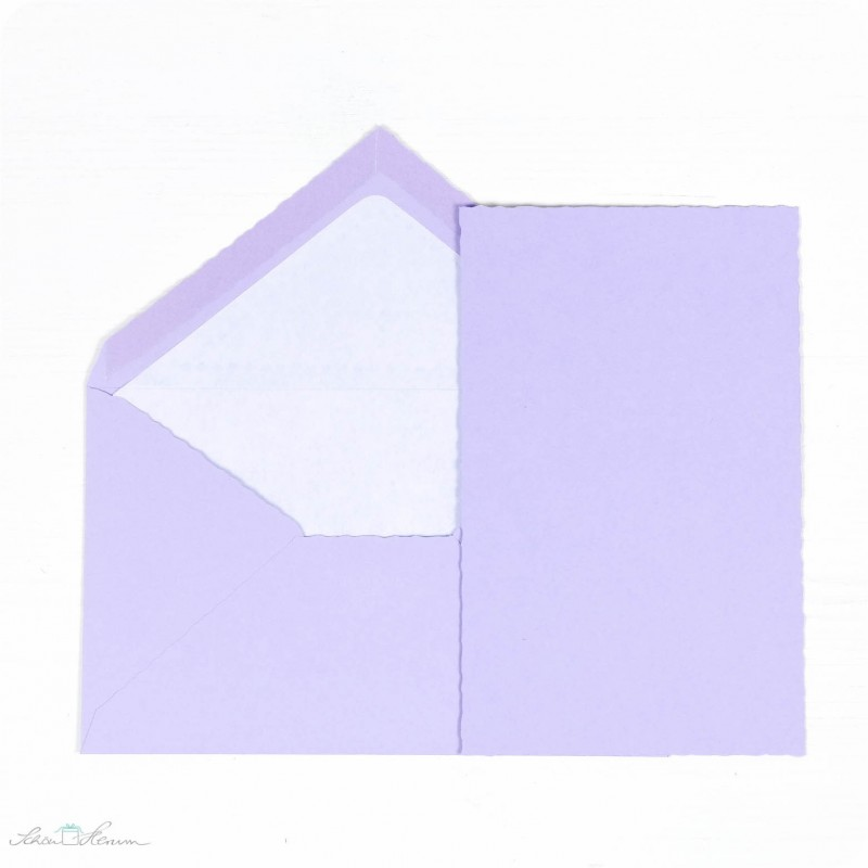 Karte & Umschlag / flieder