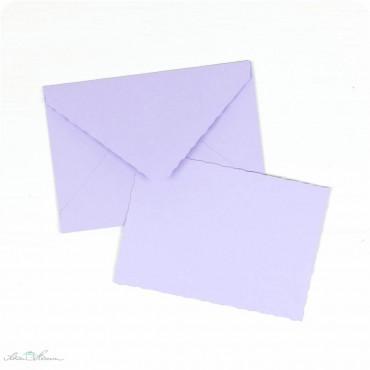 Karte & Umschlag / klein / flieder
