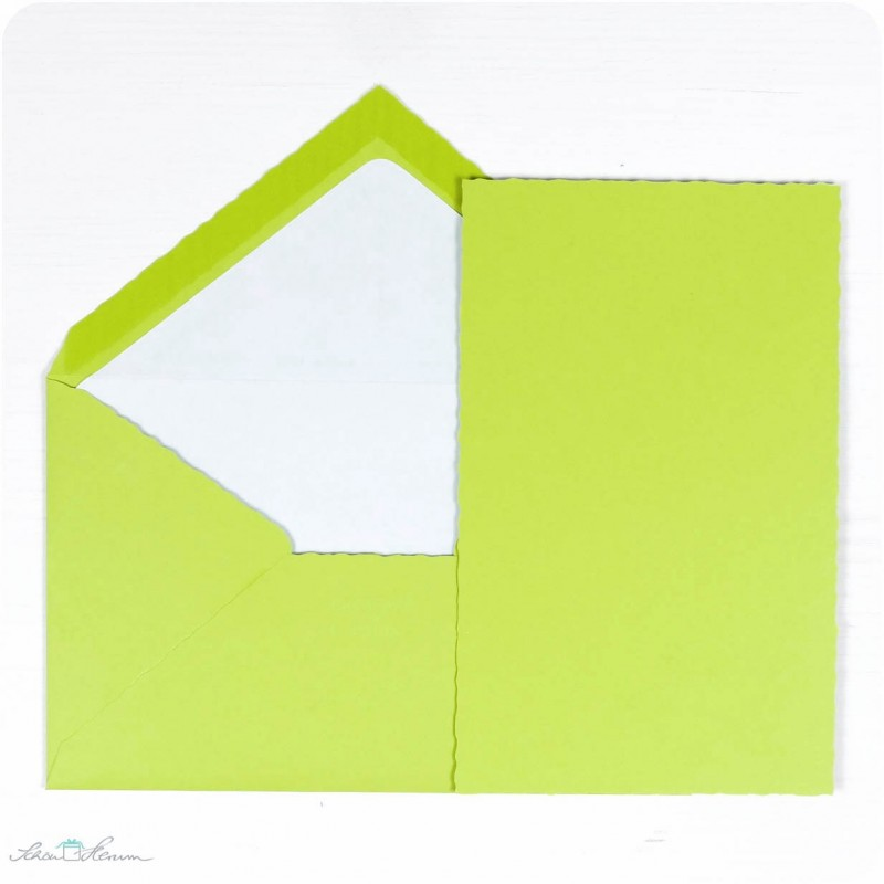 Karte & Umschlag / apfelgrün