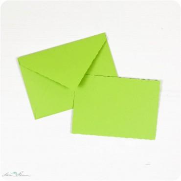Karte & Umschlag / klein / apfelgrün