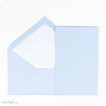Karte & Umschlag / babyblau