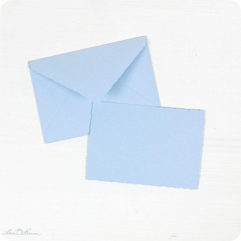 Karte & Umschlag / klein / babyblau