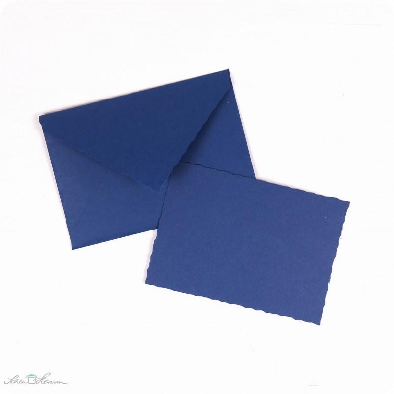 Karte & Umschlag / klein / dunkelblau