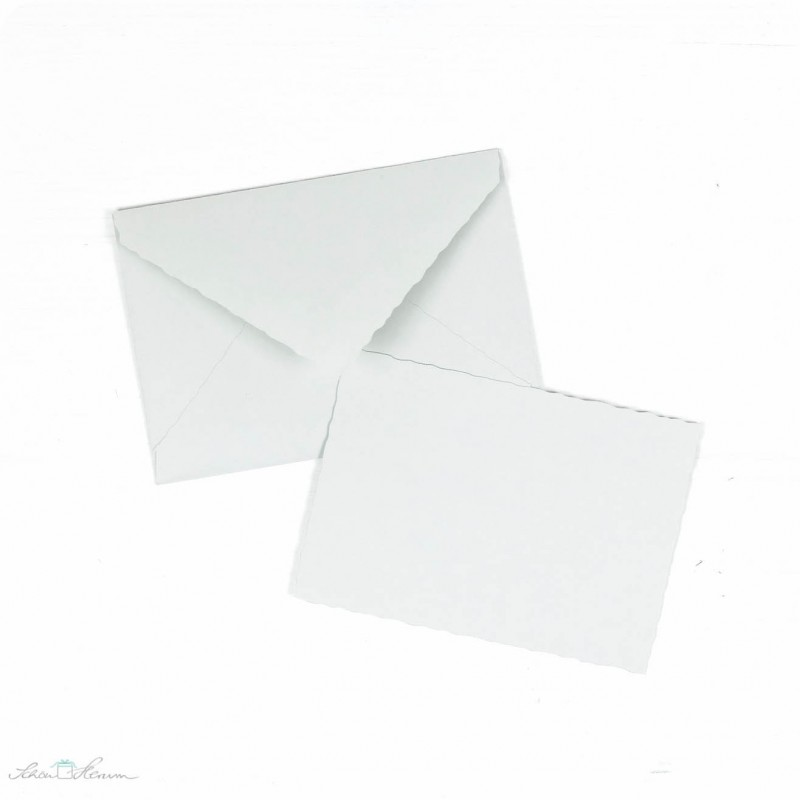 Karte & Umschlag / klein / hellgrau