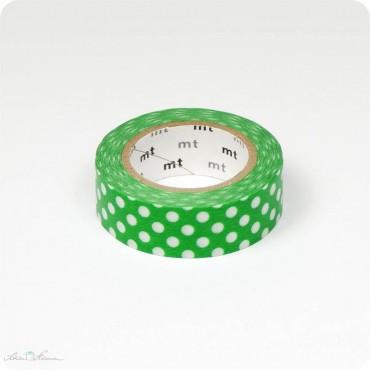 Masking Tape grün, weiße Punkte