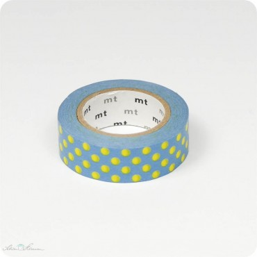 Masking Tape blau, gelbe Punkte