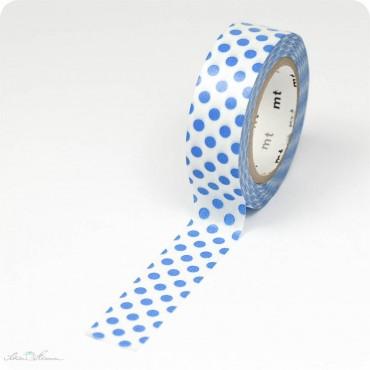 Masking Tape Punkte, blau