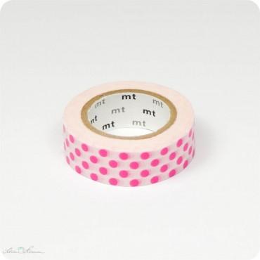Masking Tape Punkte, pink