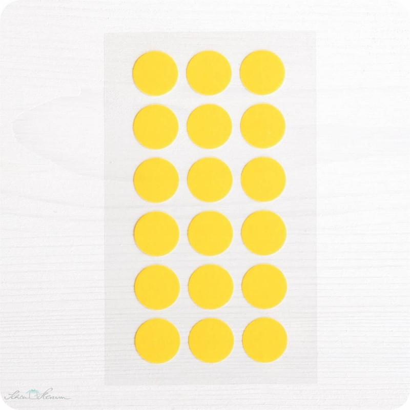 Washi-Dots, gelb