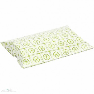 Kissenschachtel mit grünen Kacheln