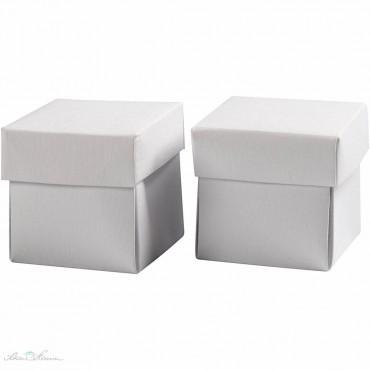 Faltschachtel mit Deckel, weiß / 5,5 x 5,5 x 5,5 cm