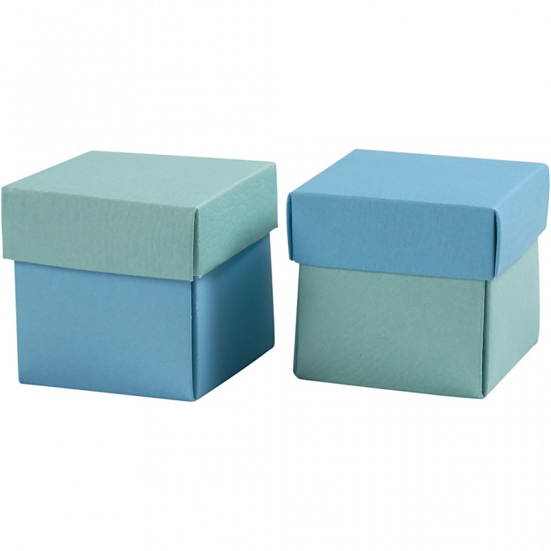 faltschachtel mit deckel blau t rkis 5 5 x 5 5 x 5 5 cm. Black Bedroom Furniture Sets. Home Design Ideas