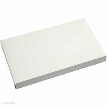 Faltschachtel flach, weiß, matt, 20 x 12 x 2 cm