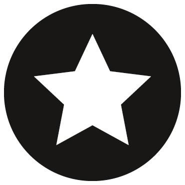 Aufkleber Stern / Schwarz / 10 Stück