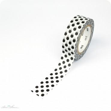 Masking Tape schwarz, weiße Punkte