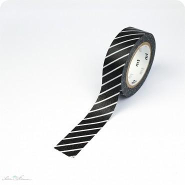 Masking Tape Streifen schwarz, weiß