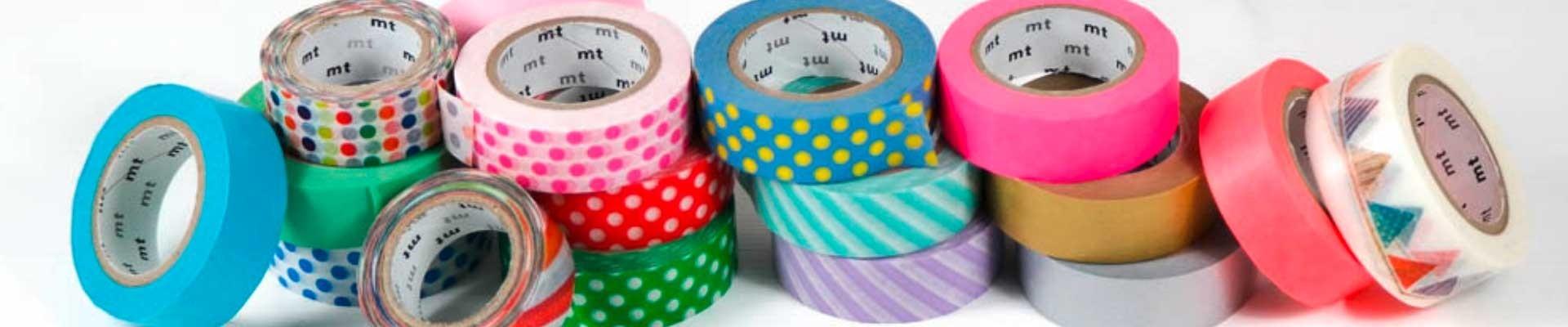 Maskingtape - das kultige Klebeband aus Reispapier in vielen Farben und Mustern.