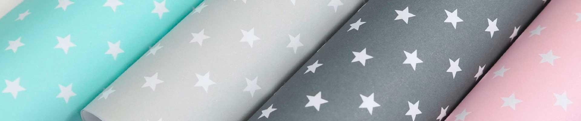 Geschenkpapier mit Sternen