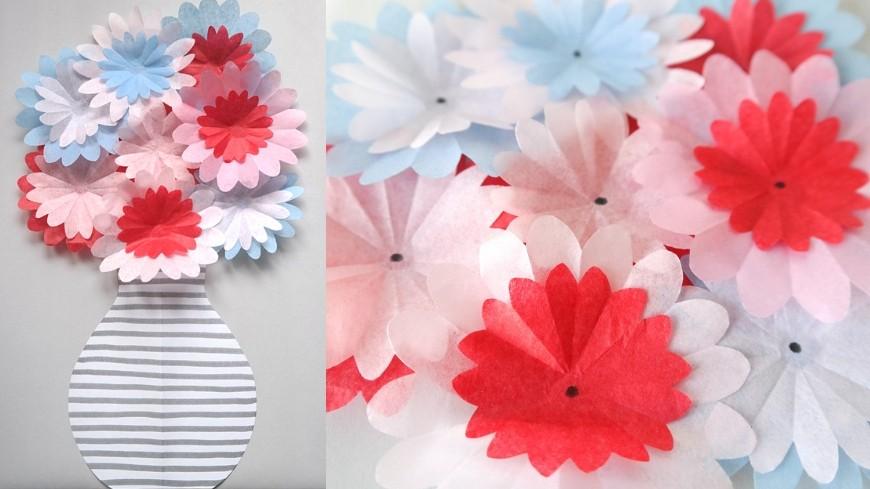 Papierblumen aus Seidenpapier